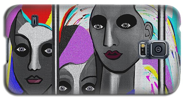 Galaxy S5 Case featuring the digital art 1875 - To Walk Tall by Irmgard Schoendorf Welch