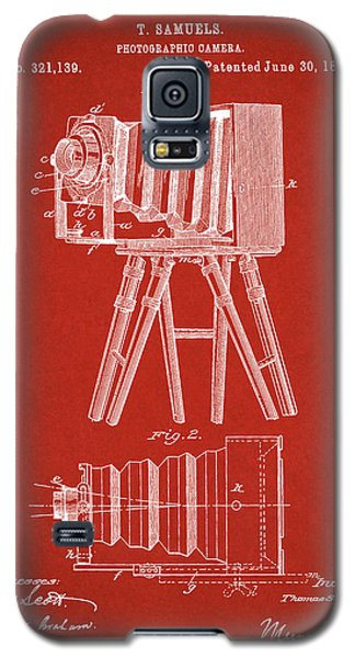 1885 Camera Us Patent Invention Drawing - Red Galaxy S5 Case
