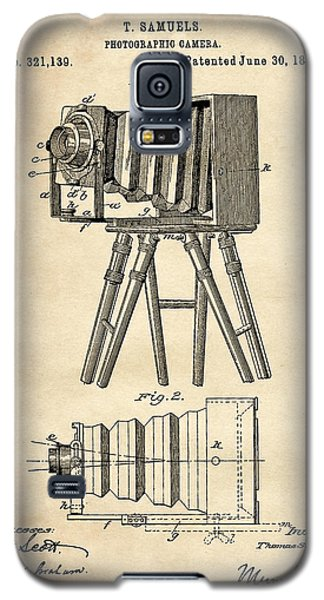 1885 Camera Us Patent Invention Drawing - Vintage Tan Galaxy S5 Case