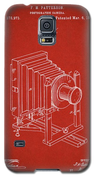 1888 Camera Us Patent Invention Drawing - Red Galaxy S5 Case