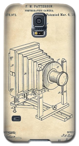 1888 Camera Us Patent Invention Drawing - Vintage Tan Galaxy S5 Case