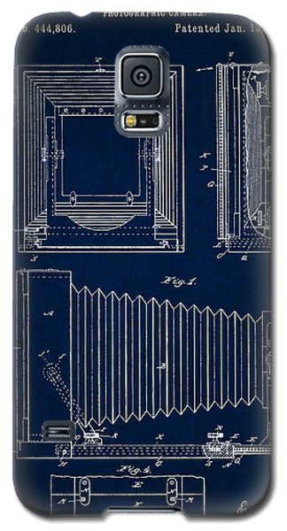 1891 Camera Us Patent Invention Drawing - Dark Blue Galaxy S5 Case