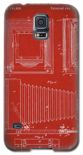 1891 Camera Us Patent Invention Drawing - Red Galaxy S5 Case