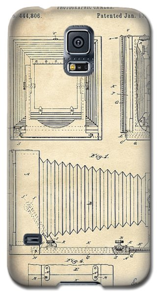 1891 Camera Us Patent Invention Drawing - Vintage Tan Galaxy S5 Case