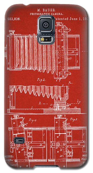 1897 Camera Us Patent Invention Drawing - Red Galaxy S5 Case