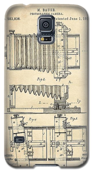 1897 Camera Us Patent Invention Drawing - Vintage Tan Galaxy S5 Case