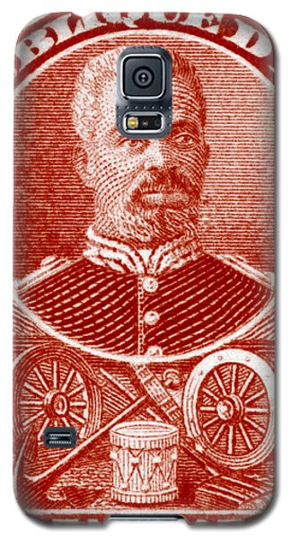Galaxy S5 Case featuring the painting 1898 President Of Haiti Stamp by Historic Image