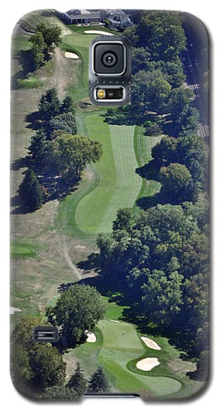 18th Hole Gulph Mills Golf Club Aerial 200 Swedeland Road Conshohocken Pa 19428 Galaxy S5 Case by Duncan Pearson
