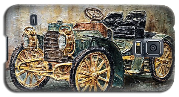 Galaxy S5 Case featuring the painting 1901 Mercedes Benz by Joey Agbayani