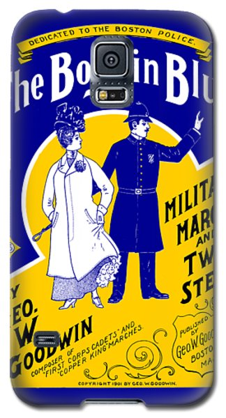 Galaxy S5 Case featuring the painting 1901 The Boys In Blue, The Boston Police by Historic Image