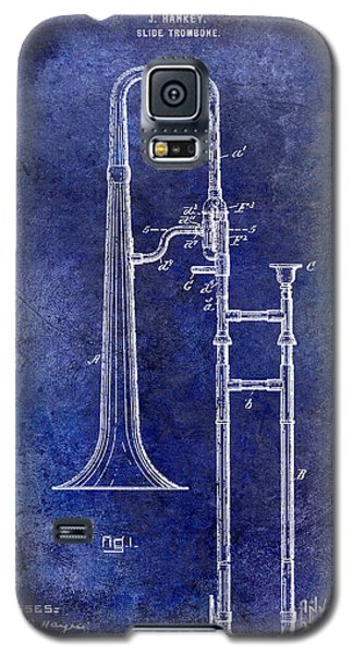 1902 Trombone Patent Blue Galaxy S5 Case by Jon Neidert