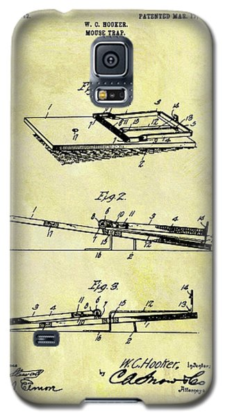 Galaxy S5 Case featuring the mixed media 1903 Mouse Trap Patent by Dan Sproul