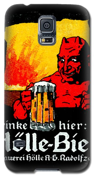 1905 German Beer Poster Galaxy S5 Case by Historic Image