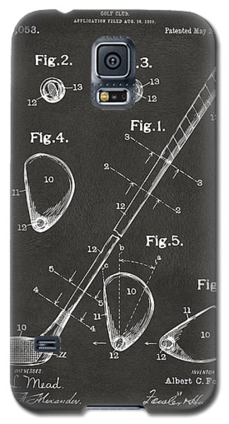 1910 Golf Club Patent Artwork - Gray Galaxy S5 Case by Nikki Marie Smith