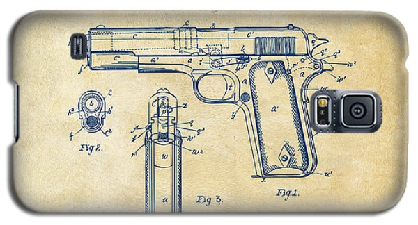 1911 Colt 45 Browning Firearm Patent Artwork Vintage Galaxy S5 Case by Nikki Marie Smith
