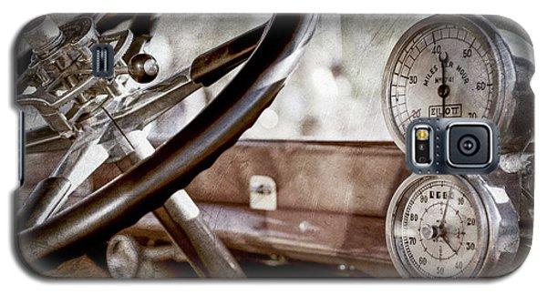 Galaxy S5 Case featuring the photograph 1914 Rolls-royce 40 50 Silver Ghost Landaulette Steering Wheel -0795ac by Jill Reger