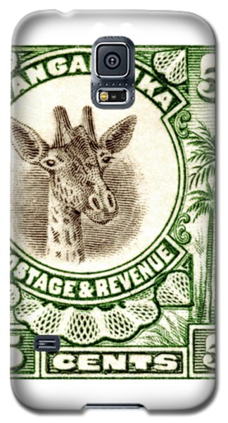 Galaxy S5 Case featuring the painting 1922 East African Giraffe Stamp by Historic Image
