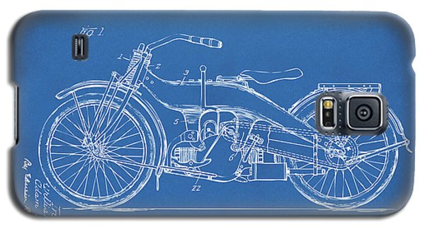 Galaxy S5 Case featuring the digital art 1924 Harley Motorcycle Patent Artwork Blueprint by Nikki Marie Smith