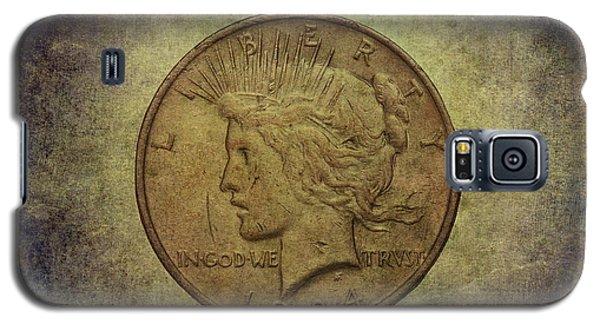 Galaxy S5 Case featuring the digital art 1924 Peace Silver Dollar by Randy Steele