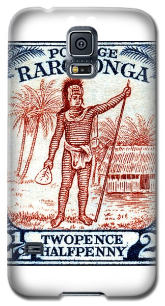 Galaxy S5 Case featuring the painting 1927 Cook Island Rarotongan Chief Stamp by Historic Image
