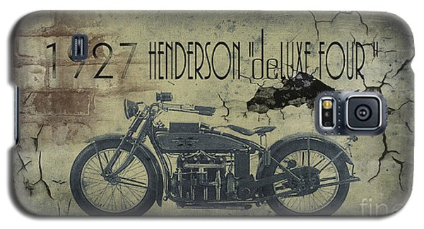 1927 Henderson Vintage Motorcycle Galaxy S5 Case by Cinema Photography