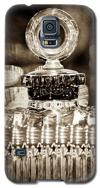 Galaxy S5 Case featuring the photograph 1928 Daimler Hood Ornament - Moto Meter -0616s by Jill Reger