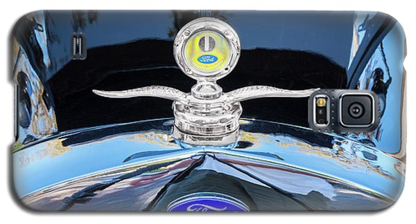 Galaxy S5 Case featuring the photograph 1929 Ford Model A Hood Ornament  by Rich Franco