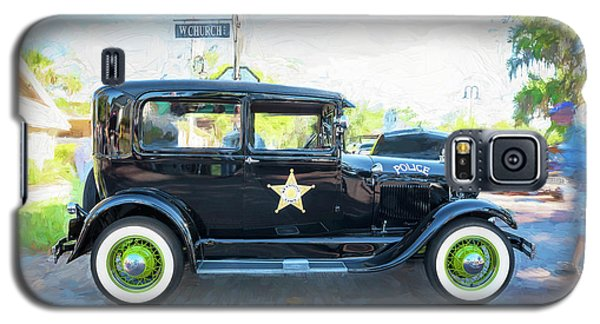 Galaxy S5 Case featuring the photograph 1929 Ford Model A Tudor Police Sedan  by Rich Franco