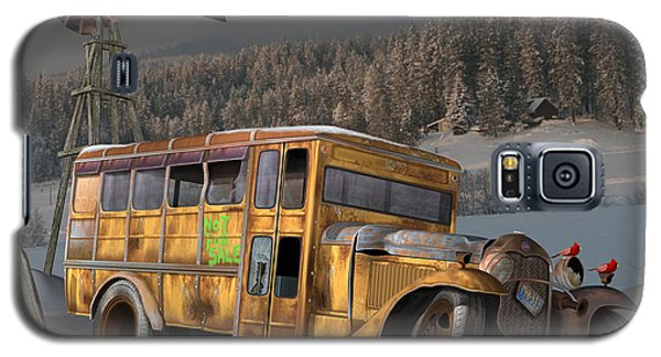 Galaxy S5 Case featuring the digital art 1931 Ford School Bus by Stuart Swartz