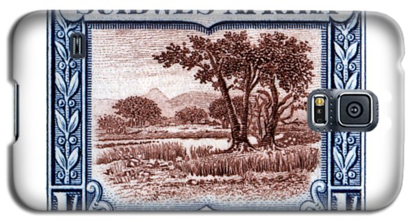 Galaxy S5 Case featuring the painting 1931 South West African Landscape Stamp by Historic Image