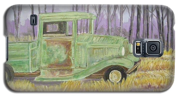 Galaxy S5 Case featuring the painting 1932  Greenford Pickup Truck by Belinda Lawson