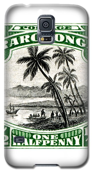 Galaxy S5 Case featuring the painting 1932 Landing Of Captain Cook Stamp by Historic Image