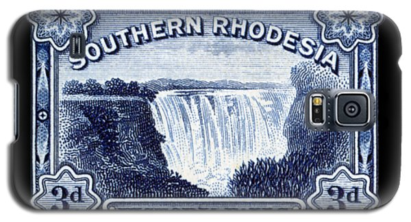 Galaxy S5 Case featuring the painting 1932 Southern Rhodesia Victoria Falls Stamp by Historic Image