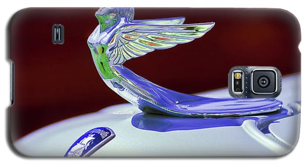 Galaxy S5 Case featuring the photograph 1933 Plymouth Hood Ornament -0121rc by Jill Reger