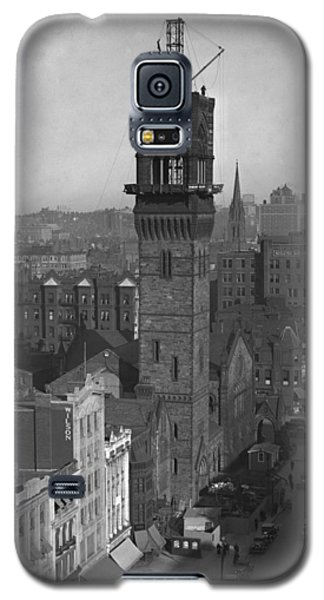 Galaxy S5 Case featuring the photograph 1935 Back Bay Construction, Boston by Historic Image