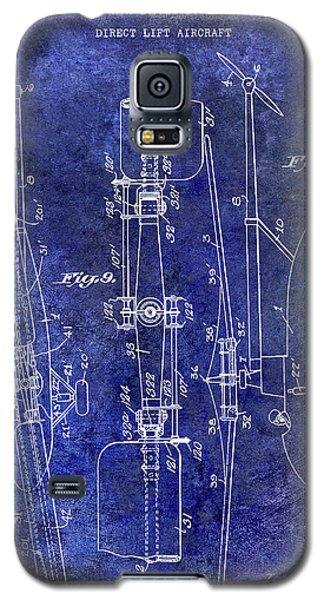 1935 Helicopter Patent Blue Galaxy S5 Case by Jon Neidert