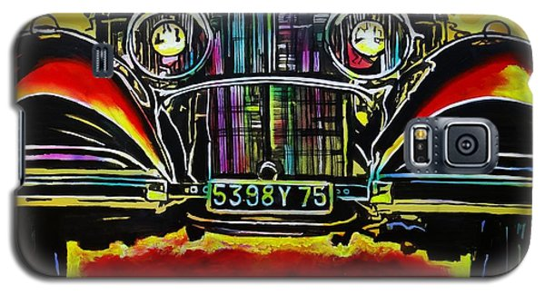 Galaxy S5 Case featuring the painting 1937 Mercedes Benz First Wheel Down by Eric Dee