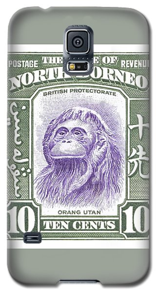 Orangutan Galaxy S5 Case - 1939 North Borneo Orangutan Stamp by Retro Graphics