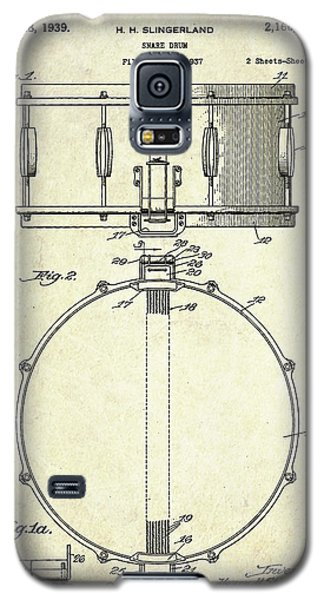 1939 Slingerland Snare Drum Patent S1 Galaxy S5 Case