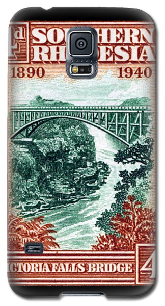 Galaxy S5 Case featuring the painting 1940 Southern Rhodesia Victoria Falls Bridge  by Historic Image
