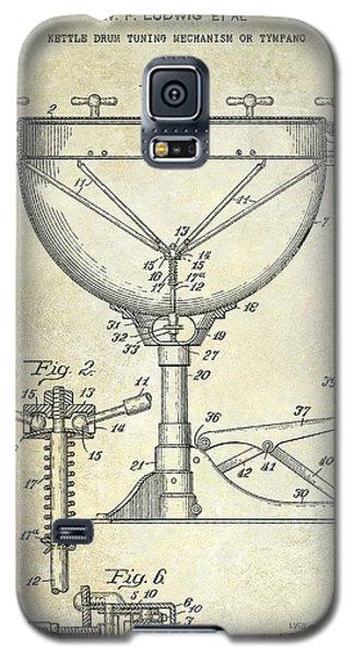 Drum Galaxy S5 Case - 1941 Ludwig Drum Patent  by Jon Neidert