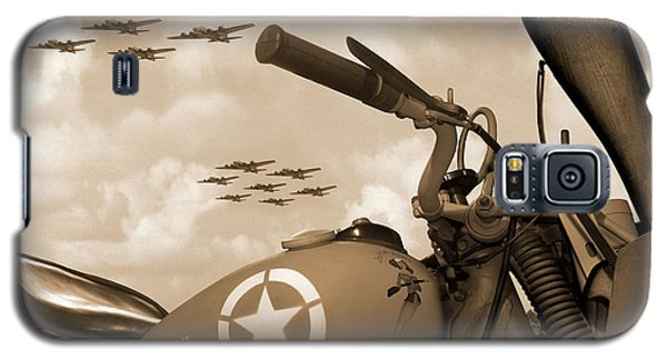 Galaxy S5 Case featuring the photograph 1942 Indian 841 - B-17 Flying Fortress - H by Mike McGlothlen