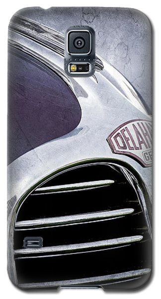 Galaxy S5 Case featuring the photograph 1947 Delahaye Emblem -1477ac by Jill Reger