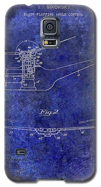 1947 Helicopter Patent Blue Galaxy S5 Case by Jon Neidert