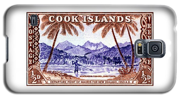 Galaxy S5 Case featuring the painting 1949 Native Fishing, Cook Islands by Historic Image