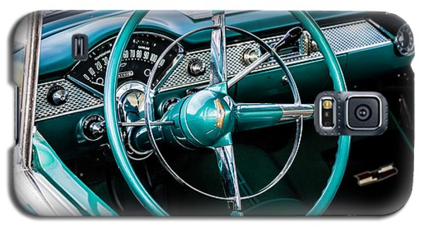Galaxy S5 Case featuring the photograph 1955 Chevrolet Bel Air by M G Whittingham