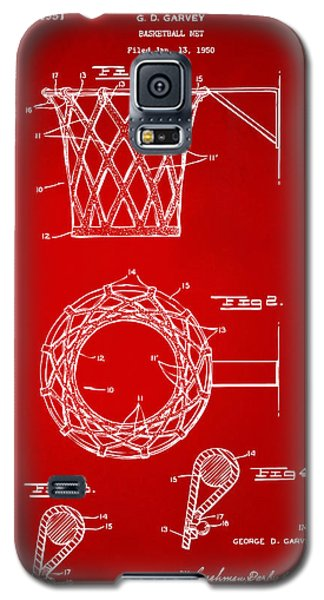 1951 Basketball Net Patent Artwork - Red Galaxy S5 Case