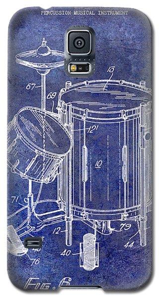 Drum Galaxy S5 Case - 1951 Drum Kit Patent Blue by Jon Neidert