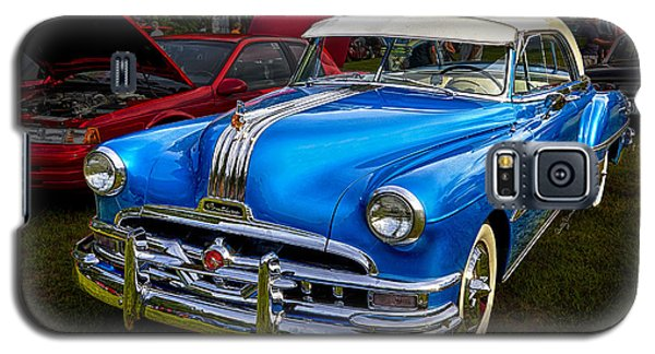 1952 Blue Pontiac Catalina Chiefton Classic Car Galaxy S5 Case by Betty Denise