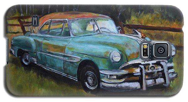 Galaxy S5 Case featuring the painting 1952 Pontiac Chieftain  by Sandra Nardone
